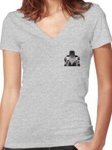 BOY, BYE. Women's Fitted V-Neck T-Shirt