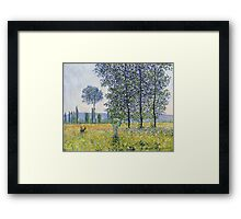 Claude Monet - Sunlight Effect Under The Poplars Framed Print