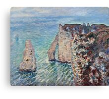 Claude Monet - The Rock Needle and the Porte dAval (1886)  Canvas Print