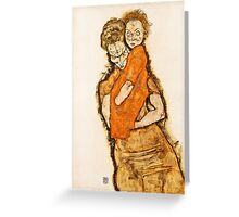 Egon Schiele - Mother and Child (1914)  Greeting Card