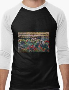 Claude Monet - Peony Garden (1887)  Men's Baseball ¾ T-Shirt