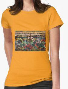 Claude Monet - Peony Garden (1887)  Womens Fitted T-Shirt