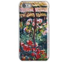 Claude Monet - Peony Garden (1887)  iPhone Case/Skin