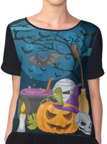 High Quality Halloween design Tapestry and Candy Bag  Chiffon Top