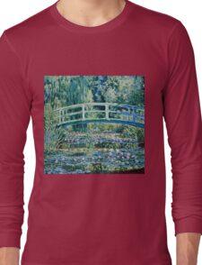 Claude Monet - Water Lilies and Japanese Bridge (1899)  Long Sleeve T-Shirt