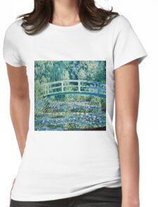 Claude Monet - Water Lilies and Japanese Bridge (1899)  Womens Fitted T-Shirt