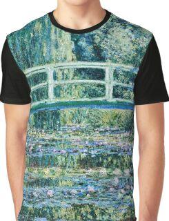 Claude Monet - Water Lilies and Japanese Bridge (1899)  Graphic T-Shirt
