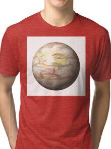 Fractal Globe Tri-blend T-Shirt