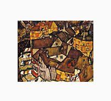 Egon Schiele - Krumau - Crescent of Houses (The Small City V) (Krumau Hauserbogen (die Kleine Stadt V))1915  Unisex T-Shirt