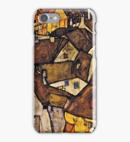 Egon Schiele - Krumau - Crescent of Houses (The Small City V) (Krumau Hauserbogen (die Kleine Stadt V))1915  iPhone Case/Skin