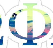 Omega Phi Alpha Sunset Sticker