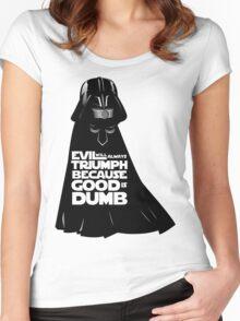 Dark Helmet - Fan art Women's Fitted Scoop T-Shirt