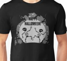 Cute Dancing Skeletons - Halloween Vector Unisex T-Shirt