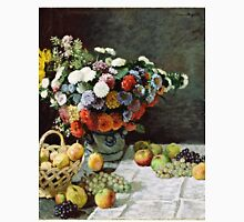 Claude Monet - Still Life with Flowers and Fruit (1869)  Unisex T-Shirt