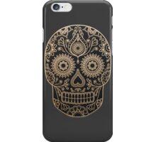 Black and Gold Sugar Skull iPhone Case/Skin
