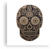 Black and Gold Sugar Skull Canvas Print