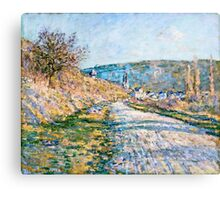 Claude Monet - The Road to Vetheuil (1879)  Canvas Print