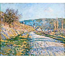 Claude Monet - The Road to Vetheuil (1879)  Photographic Print