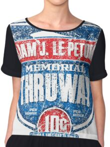 William J. LePetomane Memorial Thruway Chiffon Top