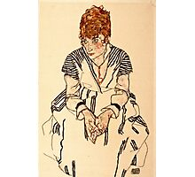 Egon Schiele - Portrait of the Artists Sister in Law, Adele Harms, 1917  Photographic Print