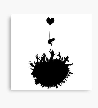 Baby - Balloon - Zombies Canvas Print