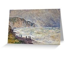 Claude Monet - Heavy Sea at Pourville (1897)  Greeting Card