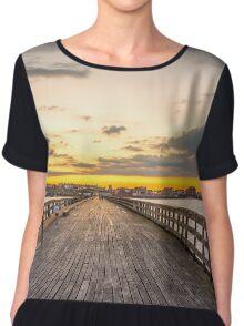 Pier sunset Chiffon Top