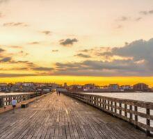 Pier sunset Sticker