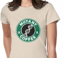 MUTANT COFFEE Womens Fitted T-Shirt