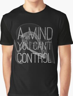 A Mind You Cant Control Grunge Protest Typography Graphic T-Shirt