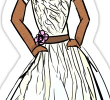 Hajime Hinata in a Dress Sticker
