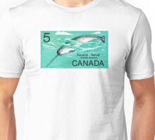 1968 Canada Narwhal Postage Stamp Unisex T-Shirt