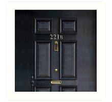Black Door with 221b number Art Print