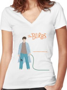 The Burbs Women's Fitted V-Neck T-Shirt