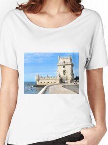 TORRE de BELEM- LISBON, PORTUGAL Women's Relaxed Fit T-Shirt