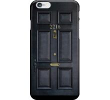 Black Door  with 221b number iPhone Case/Skin