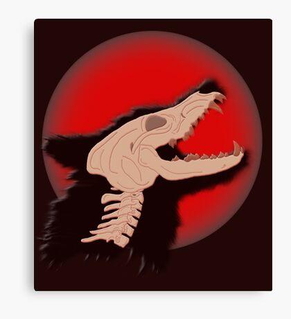Blood Moon Werewolf Canvas Print