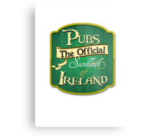 Pubs - the official sunblock of Ireland Metal Print