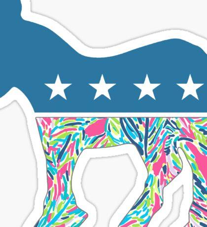Preppy Democrat v3 Sticker
