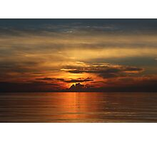 Sun Setting Over the Ocean Photographic Print