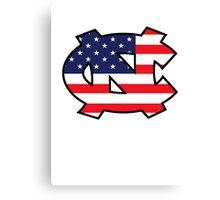 Go Heels, Go America Canvas Print