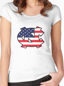 Go Heels, Go America Women's Fitted Scoop T-Shirt