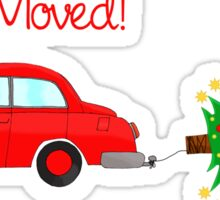Christmas Car towing tree Sticker