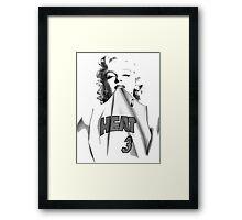 Marylin Heat White Framed Print