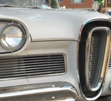 White Edsel Sticker