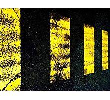 yellow on black Photographic Print