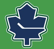 Leafs - Canucks Logo Mashup by Phneepers