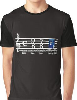 dr.who music notation time Graphic T-Shirt