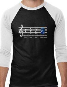 dr.who music notation time Men's Baseball ¾ T-Shirt