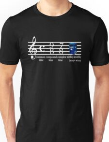dr.who music notation time Unisex T-Shirt